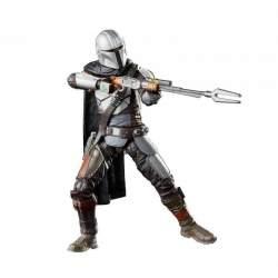 Figura articulada vintage collection el mandaloriano en pose, apuntando on su rifle