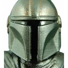 figura el mandaloriano vintage collection version carbonized ampliacón del casco, casco.