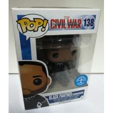 Funko POP! 138 Black Panther unmasked exclusive underground toys(Civil War: Captain America)
